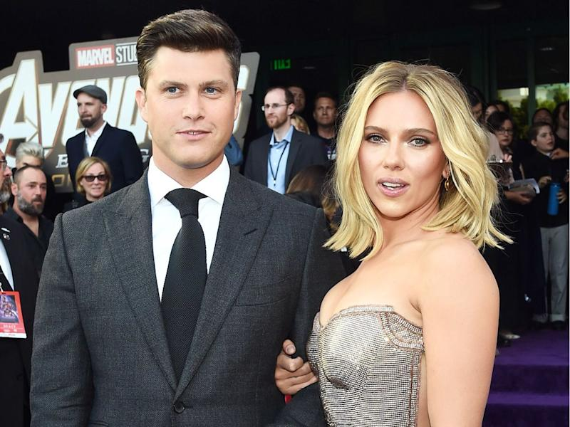 Scarlett Johansson Shows Off Massive Engagement Ring from Fiance Colin Jost!