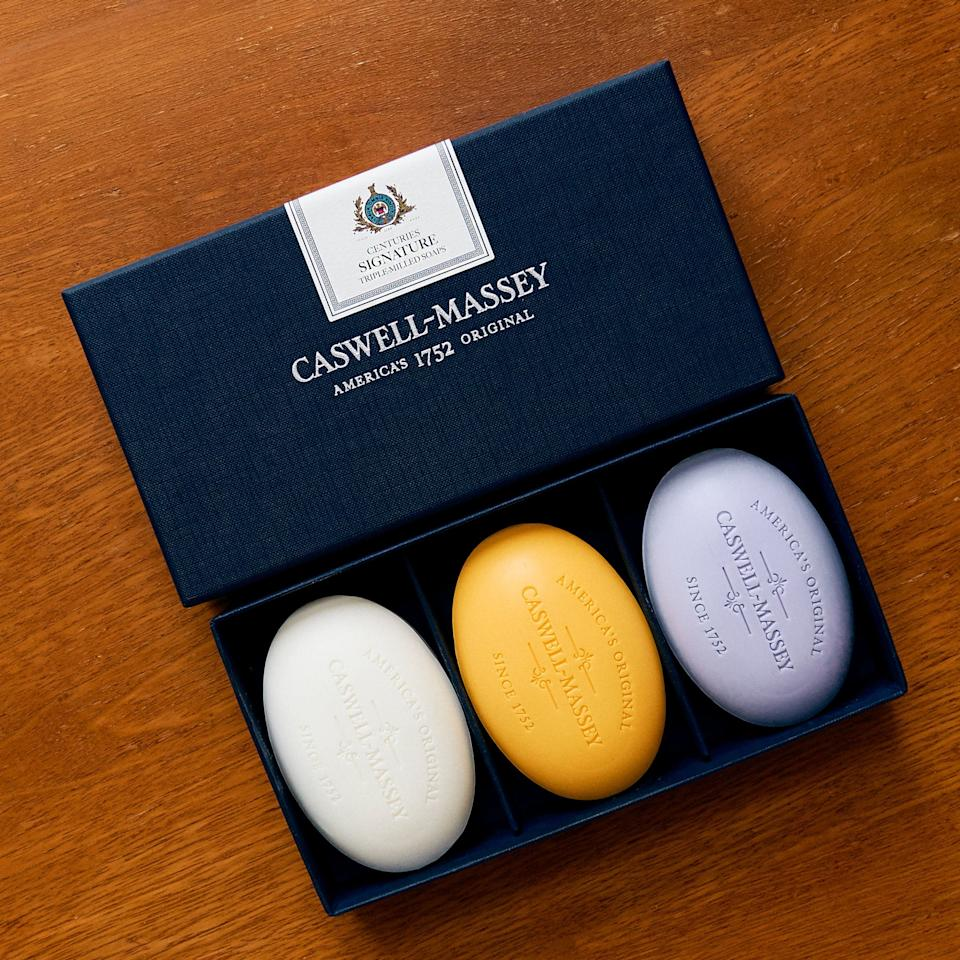 """<p>For nearly 300 years, Caswell-Massey has been making beautiful soaps and toiletries. <a href=""""https://www.caswellmassey.com/pages/our-story"""">Founded</a> in Newport, Rhode Island, in 1752, the shop was one of the still-young country's original perfume makers and apothecaries. Their triple-milled soaps have been helping bathrooms look neat and keeping hands clean ever since.</p>"""