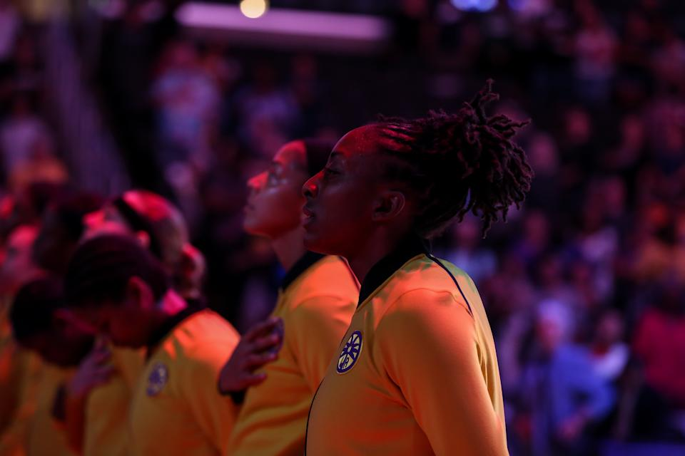 Nneka Ogwumike and other WNBA players have plenty of decisions to make amid the coronavirus pandemic. (Photo by Jevone Moore/Icon Sportswire via Getty Images)