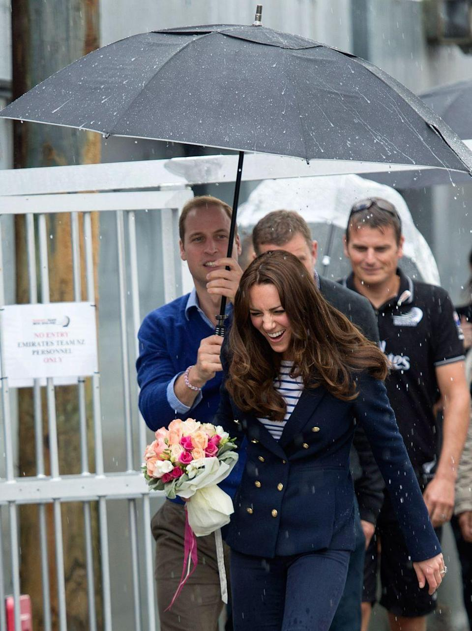 <p>Despite his best efforts, Will seems unable to shield his wife from the elements.<br></p>