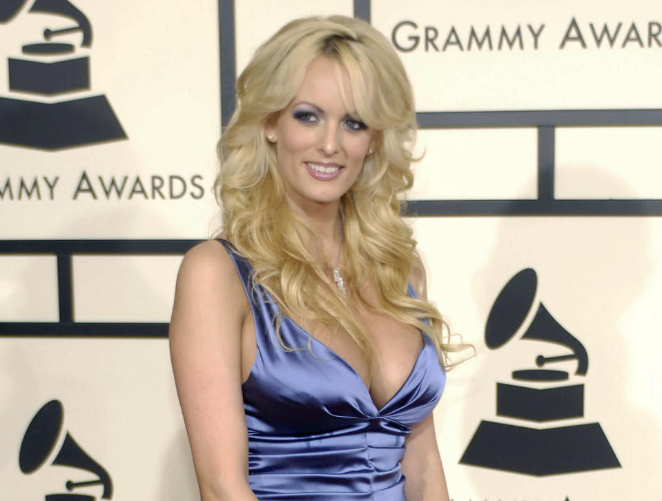 The adult film star met the now-President in 2006. (AP Photo/Chris Pizzello, File)