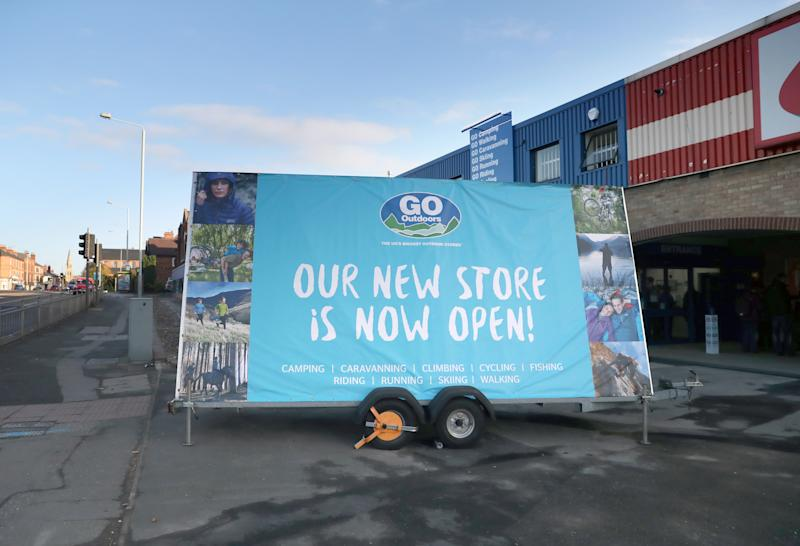 A general view of the shop floor at GO Outdoors Nottingham. Photo: PA