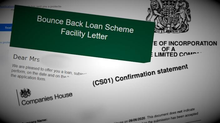Bounce Back Loan Scheme letter