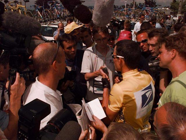 Lance Armstrong at the 1999 Tour de France