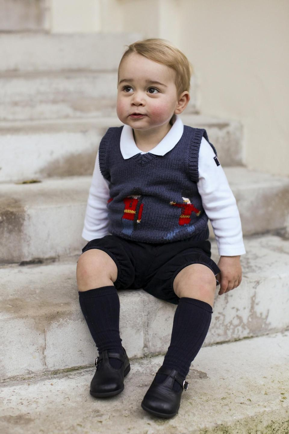 <p>Only Prince George can make a Christmas sweater vest look this cute! [Photo: Kensington Palace] </p>