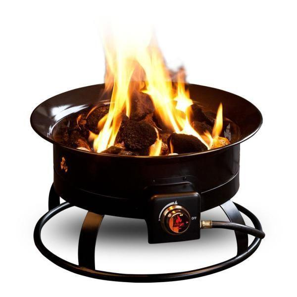 """<p><strong>Outland Firebowl</strong></p><p>amazon.com</p><p><strong>$121.34</strong></p><p><a href=""""https://www.amazon.com/Outland-Firebowl-893-Portable-Diameter/dp/B00KY4S388?tag=syn-yahoo-20&ascsubtag=%5Bartid%7C10057.g.32129002%5Bsrc%7Cyahoo-us"""" rel=""""nofollow noopener"""" target=""""_blank"""" data-ylk=""""slk:BUY NOW"""" class=""""link rapid-noclick-resp"""">BUY NOW</a></p><p>If you'd prefer a smaller, portable option—one that's great for camping trips or occasional use in the backyard—this well-reviewed propane fire pit is a good pick. It's only 19 inches in diameter and comes with a cover and carry kit for easy transport. </p>"""