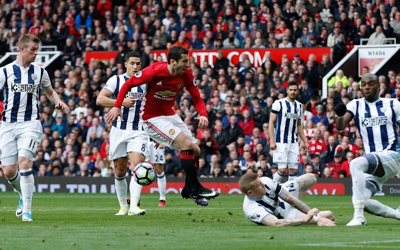 United's players found themselves crowded out time and again by West Brom's committed defenders - REUTERS