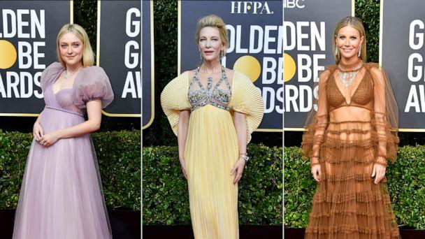 PHOTO: Dakota Fanning, Cate Blanchett, and Gwyneth Paltrow attend the 77th Annual Golden Globe Awards at The Beverly Hilton Hotel on Jan. 05, 2020, in Beverly Hills, Calif. (Frazer Harrison/Getty Images )