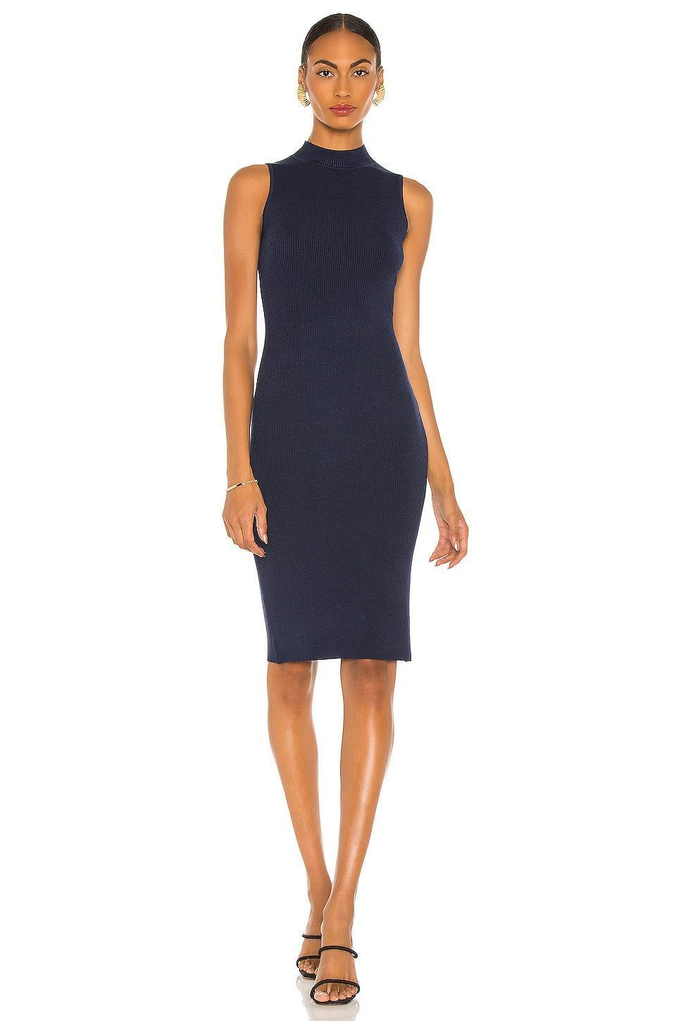 <p>This beautiful <span>L'Agence Mina Sleeveless Turtleneck Dress</span> ($290) is great for both meetings and hanging out.</p>