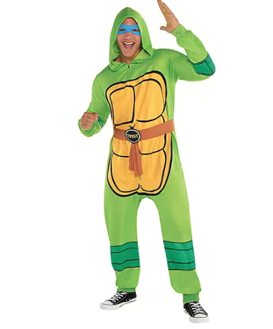"""<p><strong>$39.99</strong></p><p><a href=""""https://www.partycity.com/zipster-teenage-mutant-ninja-turtles-one-piece-costume-P628532.html?dwvar_P628532_size=S%2FM&cgid=group-costumes-teenage-mutant-ninja-turtle"""" rel=""""nofollow noopener"""" target=""""_blank"""" data-ylk=""""slk:Shop Now"""" class=""""link rapid-noclick-resp"""">Shop Now</a></p><p>Team up with another couple to rock the whole foursome, or just pick your two favorites. Don't forget the pizza!</p>"""