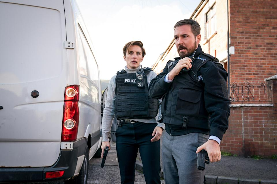 WARNING: Embargoed for publication until 00:00:01 on 27/04/2021 - Programme Name: Line of Duty S6 - TX: 02/05/2021 - Episode: Line Of Duty - Ep 7 (No. n/a) - Picture Shows: *STRICTLY NOT FOR PUBLICATION UNTIL 00:01HRS, TUESDAY 27TH APRIL, 2021* DI Kate Fleming (VICKY MCCLURE), DI Steve Arnott (MARTIN COMPSTON) - (C) World Production - Photographer: Steffan Hill