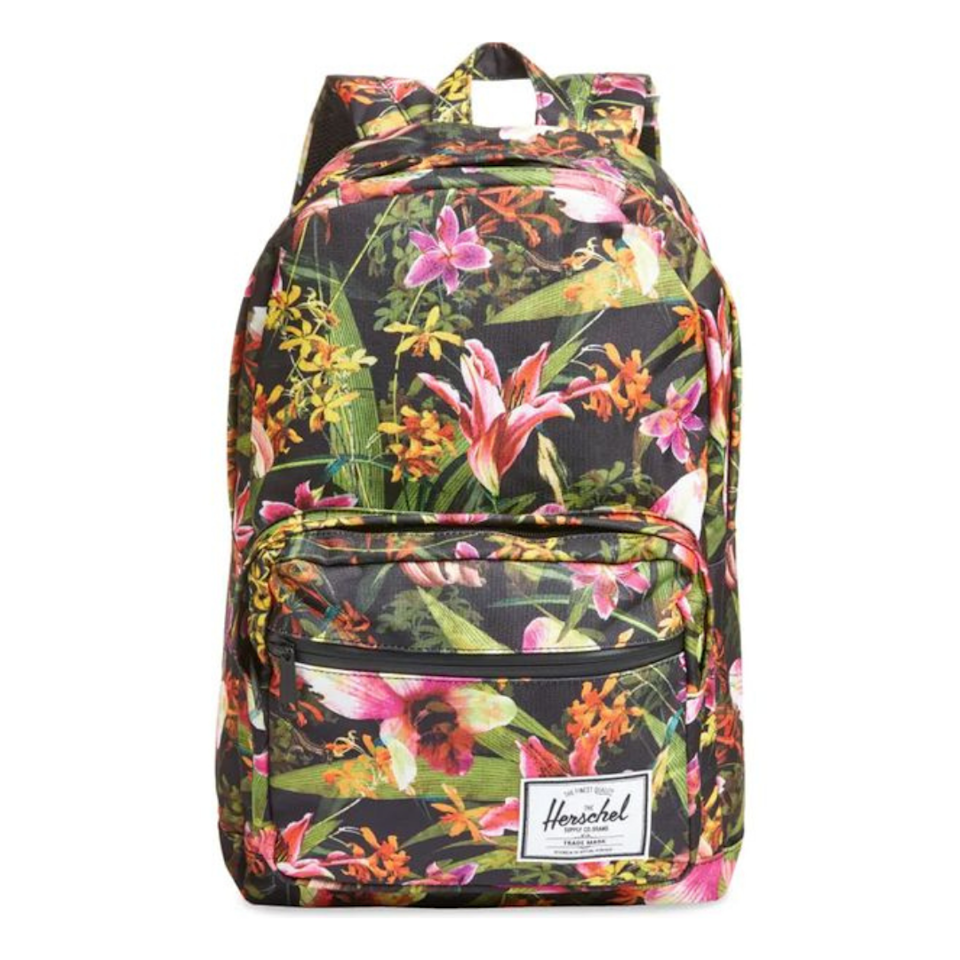 """All of Herschel's backpacks are great, but we're particularly into this tropical print. $80, Nordstrom. <a href=""""https://www.nordstrom.com/s/herschel-supply-co-pop-quiz-backpack/3981021?origin=category-personalizedsort&breadcrumb=Home%2FAnniversary%20Sale%2FWomen&color=250"""" rel=""""nofollow noopener"""" target=""""_blank"""" data-ylk=""""slk:Get it now!"""" class=""""link rapid-noclick-resp"""">Get it now!</a>"""