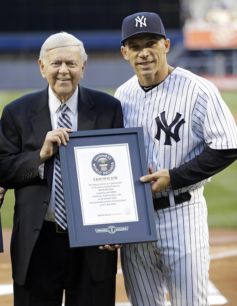 Longtime broadcaster honored at Yankee Stadium