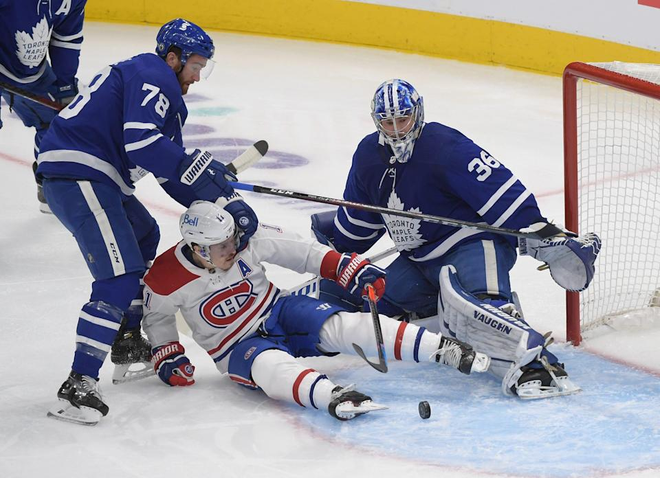 The Toronto Maple Leafs host the Montreal Canadiens in Game 7 Monday night.