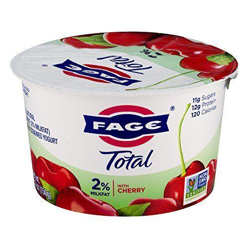 """<p><strong>Fage</strong></p><p>amazon.com</p><p><strong>1.39</strong></p><p><a href=""""https://www.amazon.com/dp/B0012ZI8A6?tag=syn-yahoo-20&ascsubtag=%5Bartid%7C2141.g.36664197%5Bsrc%7Cyahoo-us"""" rel=""""nofollow noopener"""" target=""""_blank"""" data-ylk=""""slk:Shop Now"""" class=""""link rapid-noclick-resp"""">Shop Now</a></p><p>Instead of settling for high-sugar, fruit-on-the-bottom yogurts, Langer loves the Fage Total Split Cup Greek Yogurt for a fruity treat that keeps the sugar in check. We love the cherry flavor, but you can choose one you love, from strawberry to peach.</p><p><em><em><strong>Nutrition per serving: </strong></em>120 cal, 12 g pro, 13 g carb, 0 g fiber, 11 g sugars (6 g added sugars), 2.5 g fat (1.5 g sat fat), 40 mg sodium </em></p>"""