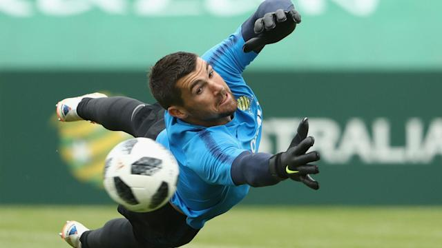 Speaking ahead of Tuesday's Group C clash in Sochi, Australia's Mathew Ryan revealed he flew 27 of his family over for the World Cup.