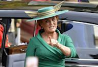 """<p>Sarah Ferguson, Duchess of York, has made a spectacular return to the public eye thanks to her appearance at daughter Princess Eugenie's wedding to Jack Brooksbank. But less than a decade before, Ferguson was disappointed when she didn't receive an invite to Kate Middleton and Prince William's wedding on April 29, 2011. During an appearance on <em>The Oprah Winfrey Show</em> (per <em><a href=""""https://www.usmagazine.com/celebrity-news/news/sarah-ferguson-royal-wedding-snub-was-so-difficult-2011105/"""" rel=""""nofollow noopener"""" target=""""_blank"""" data-ylk=""""slk:Us Weekly"""" class=""""link rapid-noclick-resp"""">Us Weekly</a></em>), Fergie called the snub """"so difficult."""" She explained, """"Because I wanted to be there with my girls … to be getting them dressed and to go as a family.""""</p>"""