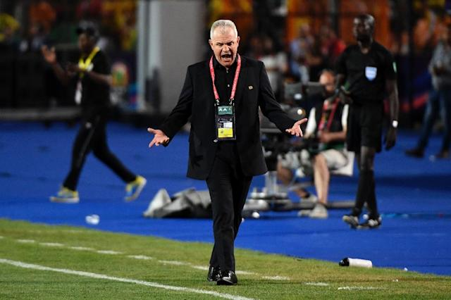 Javier Aguirre's Egypt are chasing a record-extending eighth Africa Cup of Nations title (AFP Photo/Khaled DESOUKI)