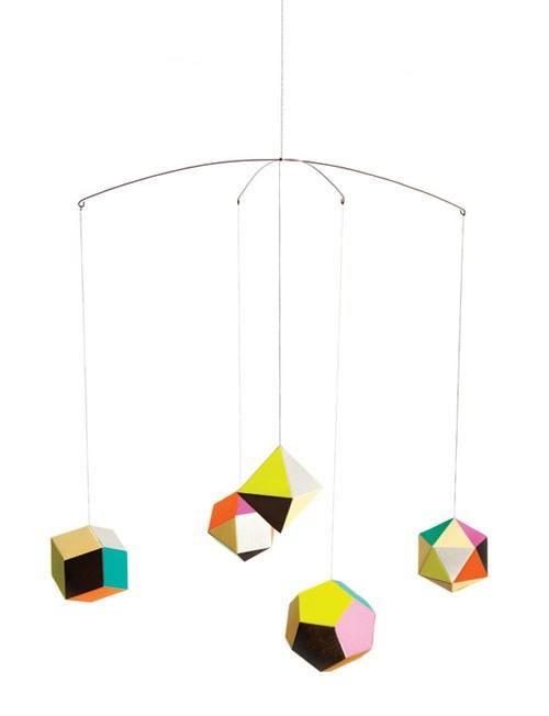 Add some neon to a room with this Themis Mobile designed by Clara von Zweigbergk. Delicate, geometric, and poppy. SHOP NOW: Themis Mobile by Clara von Zweigbergk for Artecnica, from $499 $700, yliving.com