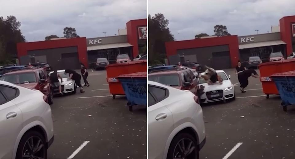 A fight broke out at a KFC car park in Liverpool over the weekend. Source: Facebook/Cabramatta