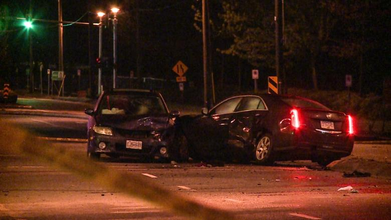 3 in hospital after multiple vehicle collision in Surrey
