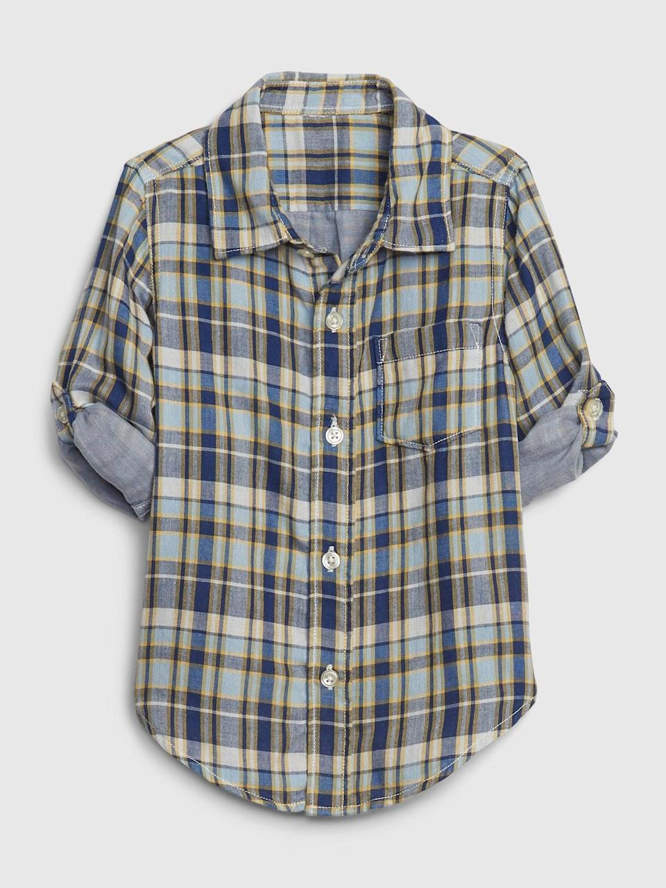 <p>This <span>Gap Toddler Double-Faced Shirt</span> ($17, originally $30) is perfect with a great pair of khakis for your toddler.</p>