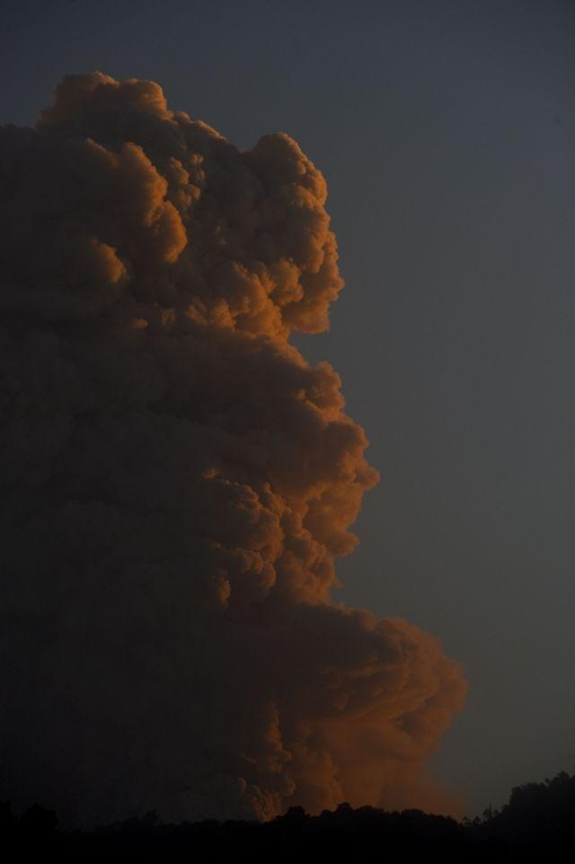 A cloud of ash billows from the Puyehue volcano near Osorno, 870 km south of Santiago