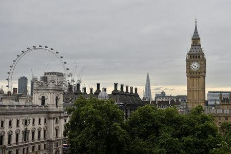 FILE PHOTO: The Houses of Parliament and the London Eye are seen from the Queen Elizabeth II Conference Centre, in central London