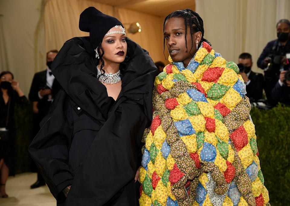 Rihanna and Asap Rocky arrived fashionably late to the Met Gala (Evan Agostini/Invision/AP) (AP)
