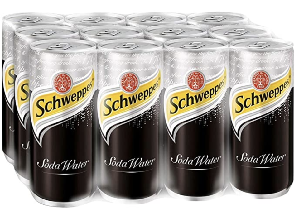 Schweppes Soda Water, 320ml. (PHOTO: Amazon)