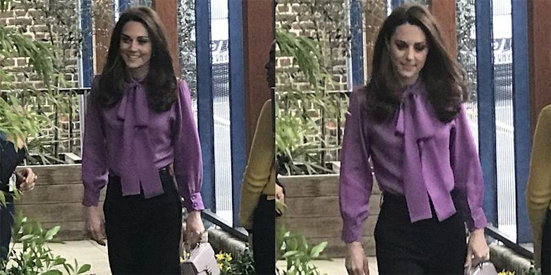00c2d4367b706 Let Kate Middleton s Gucci Bow Blouse Be Your Work Wardrobe Inspo