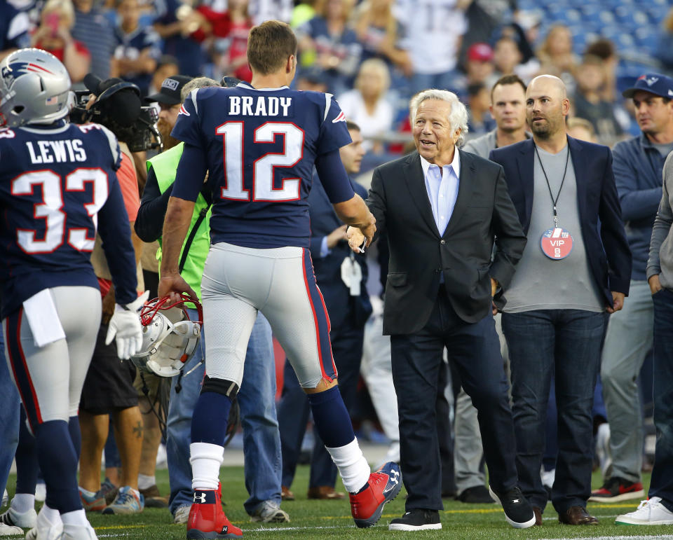 Two of the best things to ever happen to the New England Patriots organization are Robert Kraft taking ownership and drafting Tom Brady. (AP)