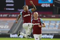 Rejuvenated Jesse: Lingard's (left) goal took West Ham up to fourth in the Premier League