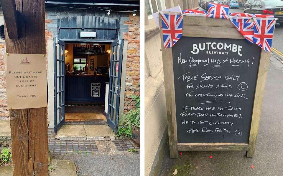 New, post-lockdown pub signs - Emma Cooke