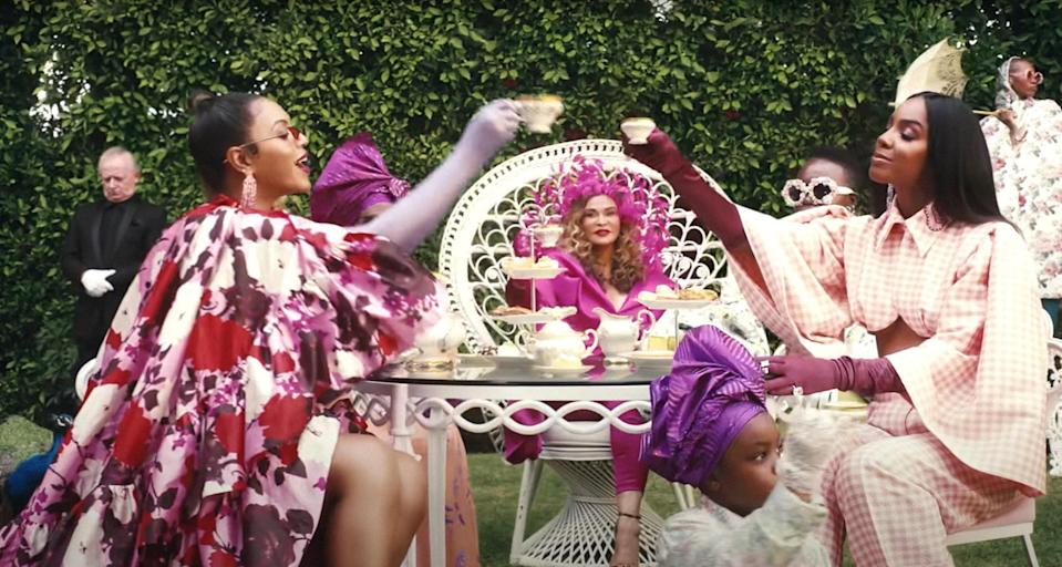 """Zerina Akers costumed for Beyonce's 2020 film """"Black Is King""""; © Disney+ / Courtesy Everett Collection"""
