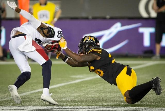 "HAMILTON — Another week, another dominant offensive performance from Jeremiah Masoli and the Hamilton Tiger-Cats.Masoli threw for over 400 yards and a touchdown while scoring two TDs to lead Hamilton past the Montreal Alouettes 41-10 on Friday night. The Ticats had 529 net offensive yards after accumulating 604 yards in last week's 64-14 road victory over the Toronto Argonauts.But it wasn't a clean performance. Masoli was intercepted three times and late in the first half Hamilton turned the ball over on downs after failing on three chances from Montreal's one-yard line.""We want to win, obviously that's the goal and we're satisfied with that,"" Masoli said. ""But I know there's a lot of stuff we need to clean up.""We're just blessed on offence that we have such a great defence, such great special teams. Special teams put us in good field position most of the night and the defence did its thing.""But so did the offence as Masoli finished 25-of-31 passing for 417 yards. He threw for 338 yards and three TDs and ran for another last week against Toronto.Brandon Banks (seven catches, 152 yards) and Bralon Addison (eight catches, 121 yards) were both outstanding. Banks also thrilled the announced Tim Hortons Field gathering of 22,407 with a 30-yard touchdown run while Addison narrowly missed throwing a TD strike on an option pass.And then there was rookie Sean Thomas Erlington. The Montreal native had five receptions for 102 yards with a TD and two-point convert while rushing for 47 yards on nine carries .He ran for 109 yards on 12 carries last week against Toronto.""He's a Swiss army knife, he can do it all, literally,"" Masoli said of Thomas Erlington. ""He might not be able to throw that well but we might let him throw it just because.""He's awesome. I've been saying for a while he's a true pro.""Thomas Erlington has certainly caught the eye of Orlondo Steinauer, who remains unbeaten as a rookie CFL head coach.""He's consistent,"" Steinauer said. ""You hope when given an opportunity you take advantage of it and he's made the most of an opportunity.""He made some quality runs, some key runs. It's not the amount of yards sometimes it's how and when you get them.""Hamilton (3-0) opened a season with three straight wins for the first time since 2004 although the club proceeded to fall to 3-5 that year. But Steinauer said coaching off victories beats the alternative.""It (being 3-0) feels good, I'm not going to lie but it's hard to enjoy,"" Steinauer said. ""We're going to be playing again in six days and my mindset is already that way.""I'll tell you this, it's got to be better than 0-3. I'm not going to complain anytime we win a football game. I'm not going to lie, winning is fun.""Vernon Adams Jr. started for Montreal (0-2) with incumbent Antonio Pipkin (ankle) out. Matt Schiltz started the third quarter under centre but Adams returned, finishing 14-of-24 passing for 173 yards with a TD and interception while rushing for 38 yards on nine carries before giving way to Schiltz for good in the fourth.Montreal quarterbacks were under pressure throughout the contest as Hamilton's defence registered six sacks.""That's a very good defence and when you play a defence like that you just have to limit the mistakes,"" Adams Jr. said. ""I need to get better at not taking these sacks I'm taking.""It's just the little things and as soon as we get those together I think we'll be a pretty good football team. When adversity hits you just have to look at it in the eye and answer back.""Adams hit Jake Wieneke on a 27-yard TD strike at 14:11 of the third to cut Hamilton's lead to 26-10. But the Ticats countered with Masoli's 10-yard TD run at 4:13 of the fourth, then Masoli hit Thomas Erlington on the two-point convert.Masoli added a one-yard TD run at 11:12. The two teams return to Montreal next Thursday night.Lirim Hajrullahu boosted Hamilton's lead to 26-3 with a 34-yard field goal at 10:22 of the third. Masoli hit Thomas Erlington on a 75-yard TD strike just 1:17 to the second half, then found Nikola Kalinic for the two-point convert, giving the Ticats a 23-3 advantage.Dane Evans had Hamilton's other touchdown. Addison added a two-point convert while Hajrullahu finished with two converts and a field goal.Boris Bede booted a convert and field goal for Montreal.Second-quarter touchdowns by Evans and Banks staked Hamilton to its 15-3 half-time advantage. But Evans was stopped three times from the Montreal one-yard line late in the second, fumbling on his final attempt to give the Alouettes possession at their 10-yard line with a minute remaining.""We had a chance to really get after them a little bit, maybe put this thing out of reach early,"" Steinauer said. ""I know we have to do a better job in the penalty department (12 for 100 yards), that's not a consistent winning formula.""It's something we're trying to address daily and we're going to get it figured out.""Dan Ralph, The Canadian Press"