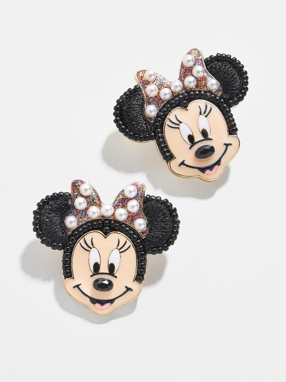 <p>These <span>BaubleBar Multi Minnie Studs</span> ($46) are so adorable. We love the pearl details.</p>