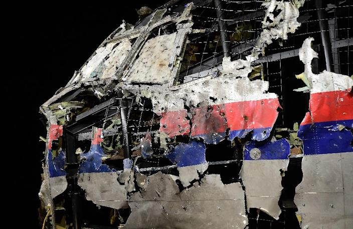 Aviation experts recreated the wrecked cockipt of Malaysia Airlines flight MH17 as part of the Dutch investigation into the downing of the Boeing 777 over Ukraine in 2014 (AFP Photo/Emmanuel Dunand)