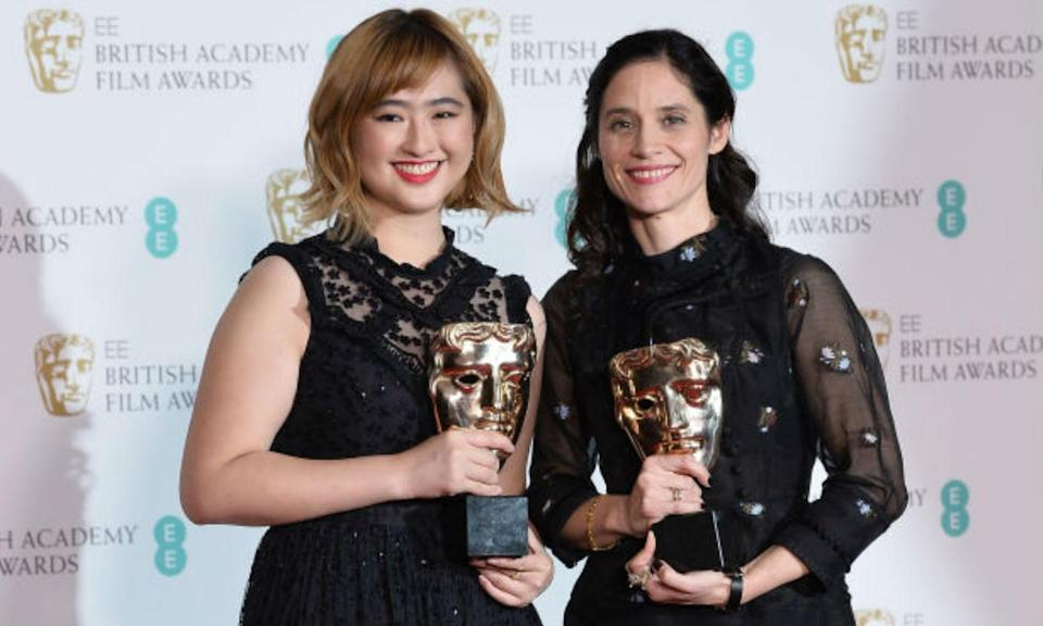 Ser En Low and Paloma Baeza, winners of the British Short Animation award for the movie 'Poles Apart' (Photo: Yahoo Movies UK)