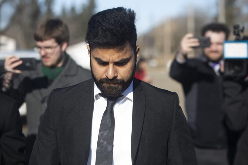 """MELFORT, Sask. — A truck driver who caused the deadly Humboldt Broncos bus crash was sentenced Friday to eight years in prison by a judge who said she believed his remorse was sincere, but she had to consider the serious consequences for so many people.Tears began to flow almost as soon as Judge Inez Cardinal began her decision and continued afterwards as families sombrely gathered outside court.Jaskirat Singh Sidhu of Calgary had pleaded guilty in January to 29 counts of dangerous driving for killing 16 people and injuring 13 others on the junior hockey team's bus.The 30-year-old stood quietly and looked at the judge as he was sentenced. His punishment includes a 10-year driving ban. He also faces deportation to his home country of India after he serves time.""""Families have been torn apart because of the loss,"""" Cardinal told court in Melfort, Sask. """"They are prone to depression, anxiety or outbursts.""""She also spoke of the survivors, who she suggested """"are putting on a brave face in an attempt to be strong.""""Marilyn Cross, whose son Mark was an assistant coach with the team, said seeing Sidhu go to prison for his death brings no comfort.""""The sentence is neither here nor there for me. Our son isn't coming back. Nobody wins in this,"""" she said.Raylene Herold and her husband, Russell, were among some family members wearing Broncos jerseys in court.""""For us, our life doesn't change. Adam doesn't come back,"""" she said as she broke into tears. """"We have a lifetime sentence.""""The 16-year-old, the youngest Bronco on the bus, was to take over the family farm one day. His father said the upcoming one-year anniversary of the April 6 crash will be another painful reminder of what they've lost. """"We have emptiness, devastation ... There's an empty future there,"""" he said.Cardinal said the loss expressed in nearly 100 victim impact statements was staggering and she approached the sentence knowing """"nothing can turn back the clock.""""She went on to note that Sidhu barrelled through a stop sig"""