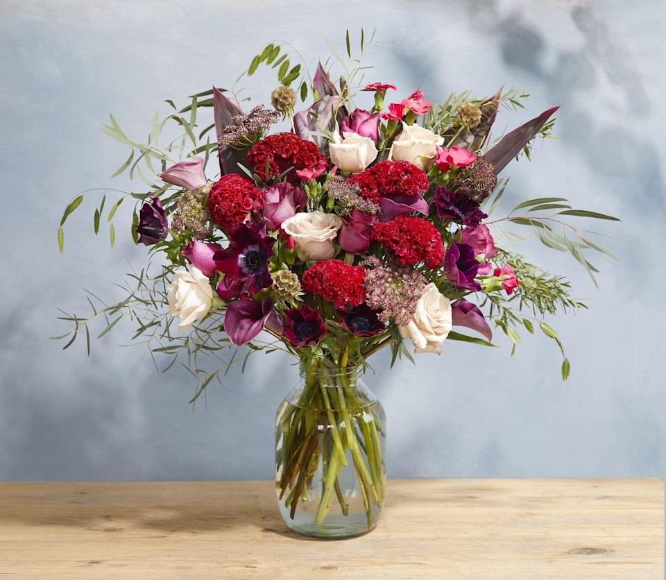 """<p>After a big romantic gesture with a twist? With rare celosia, anemone and deep calla lilies, this bouquet oozes passion.</p><p><a class=""""link rapid-noclick-resp"""" href=""""https://go.redirectingat.com?id=127X1599956&url=https%3A%2F%2Fwww.bloomandwild.com%2Fsend-flowers%2Fsend%2Fthe-ruby-ht%2F3524&sref=https%3A%2F%2Fwww.housebeautiful.com%2Fuk%2Flifestyle%2Fshopping%2Fg35318824%2Fbloom-wild-valentines-day-red-roses%2F"""" rel=""""nofollow noopener"""" target=""""_blank"""" data-ylk=""""slk:BUY NOW"""">BUY NOW</a></p>"""
