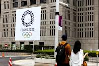 The city has been adorned with Tokyo 2020 flags and advertising