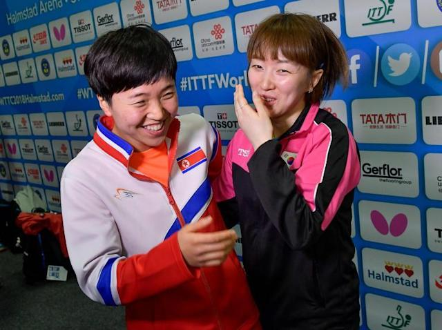 North and South Korea lay down table tennis bats to unite in World Team Championships quarter-final