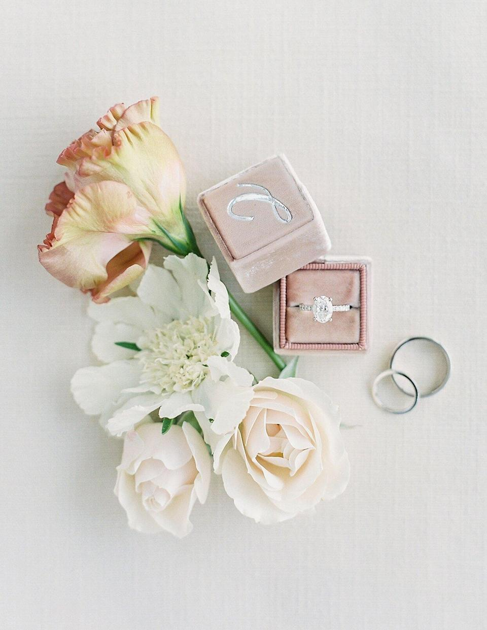 micaela curtis wedding rings and flowers
