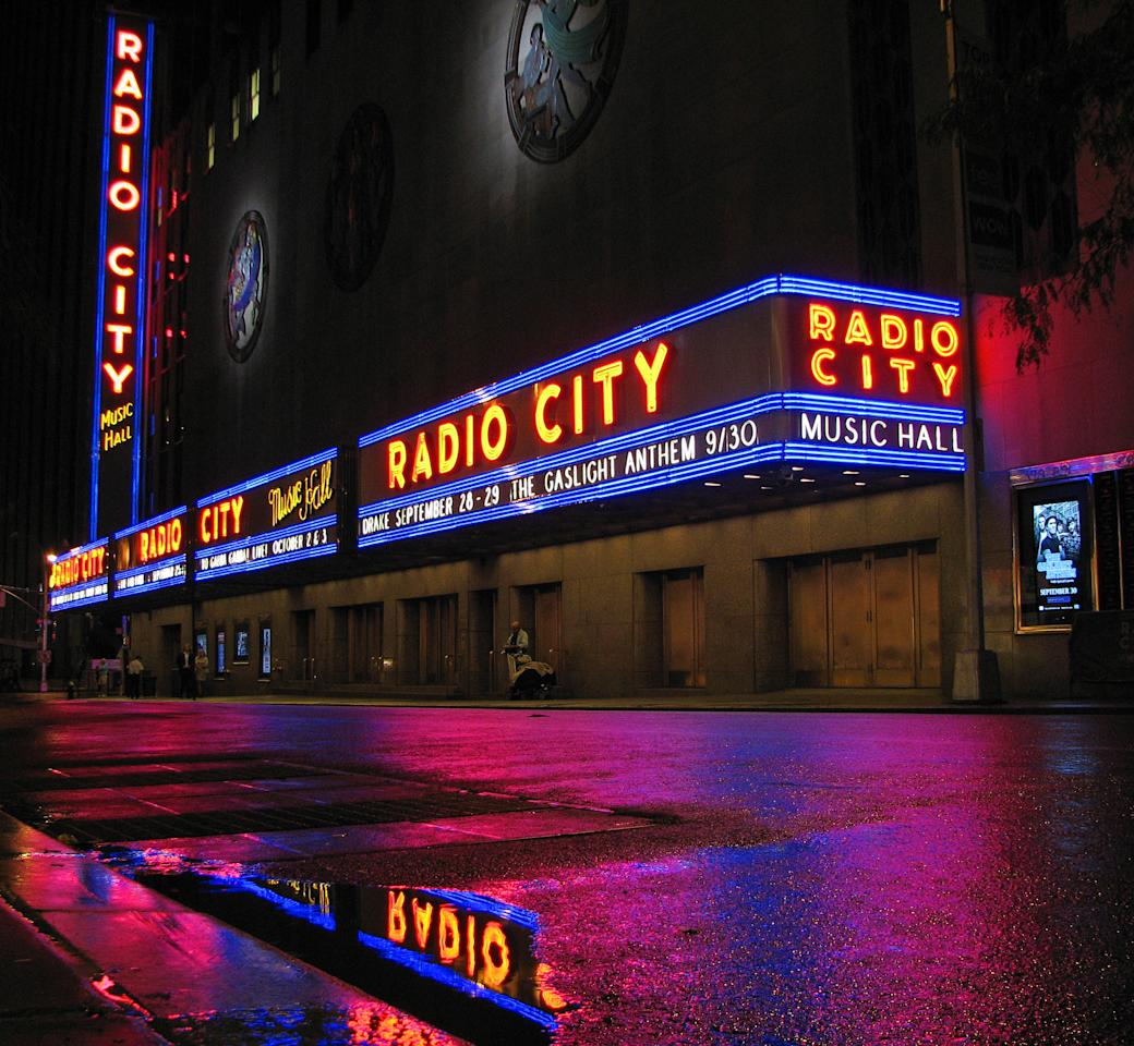 Steven Feather took this colourful shot of Radio City after the rain in New York City (Steven Feather)