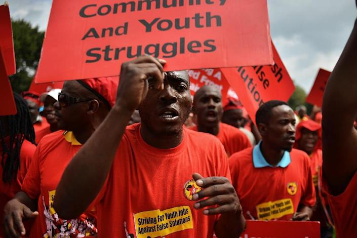 South Africa is regularly rocked by protests over service delivery for the poor (AFP Photo/Mujahid Safodien)