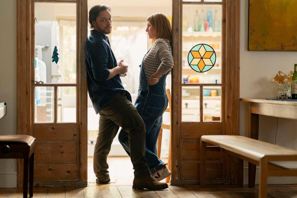 McAvoy and Horgan play a couple forced to reassess their relationship in lockdown (BBC / Arty Films Ltd / Peter Mountain)