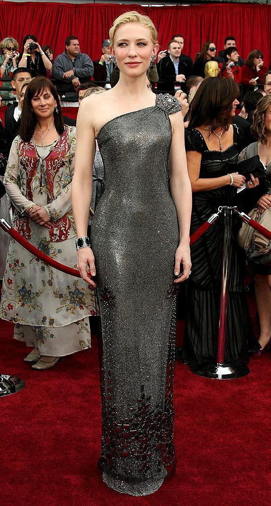 <p>Cate Blanchett put this Armani Prive gown to work for her. (Photo: Getty Images) </p>