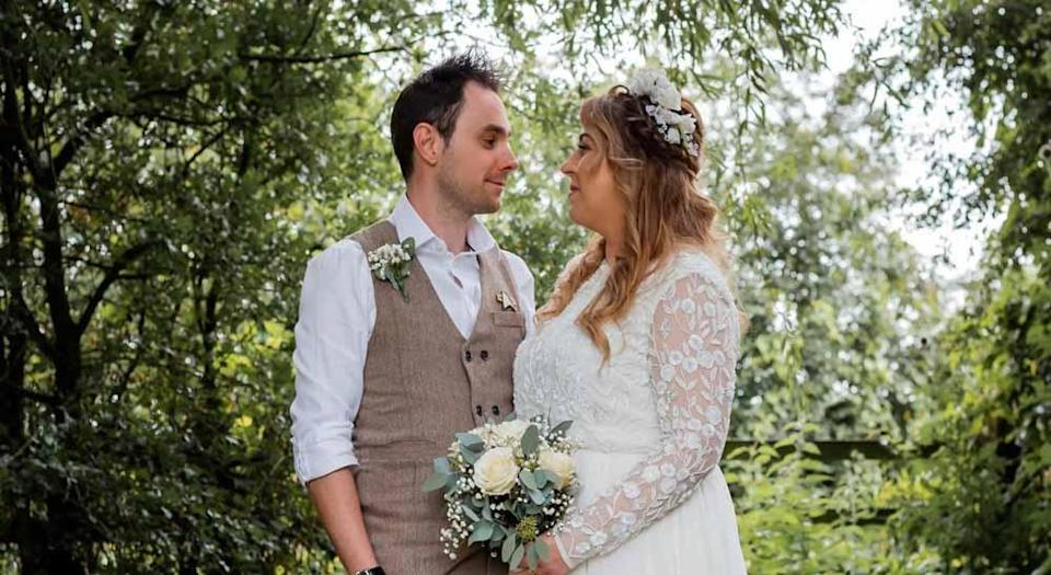 Katie and Phil had to postpone their wedding for a year due to the global pandemic (PA Real Life/Emma Thurlow Photography).
