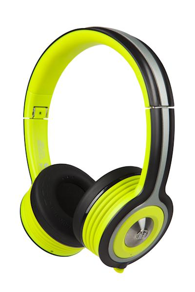 This photo provided by Monster, Inc. shows the Monster iSport Freedom headphones. Meant for a workout, these on-ear headphones are made of sweat-resistant plastic and rubbery material and will give you a tight-fitting hug. (AP Photo/Monster, Inc., Stephen Gutierrez)